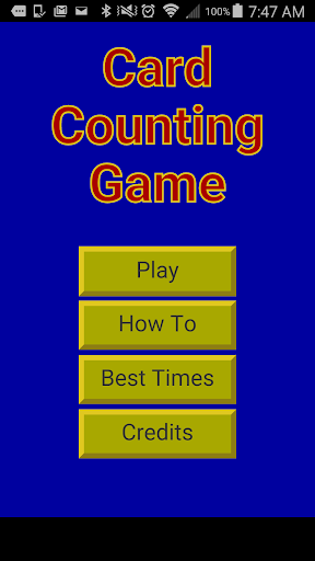 Card Counting Game