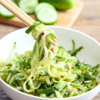 Sesame Cucumber Noodle Salad.