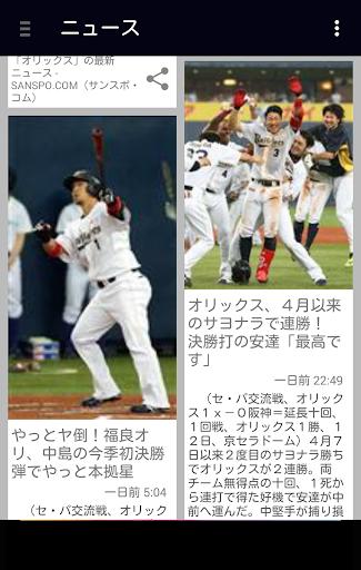 猛牛速報 (プロ野球速報 for オリックスバファローズ)