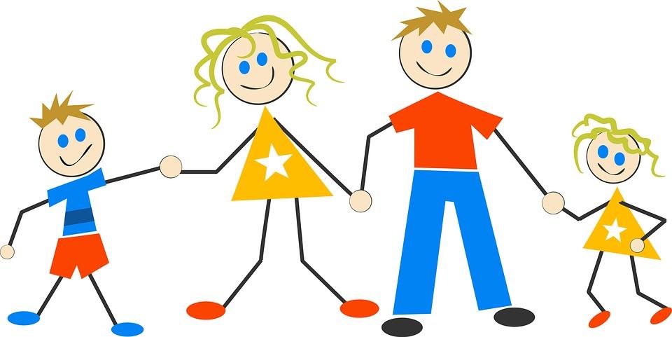Happy, Family, Cartoon, Kids, ...