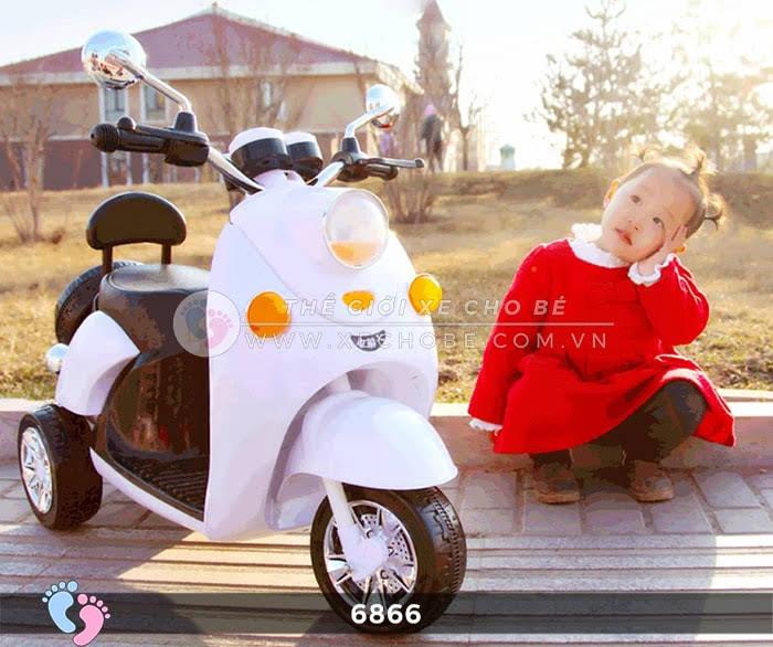 Xe máy điện cho bé Mio 6866 5