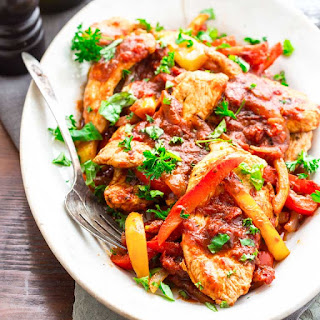 20 Minute Low Carb Turkey And Peppers.