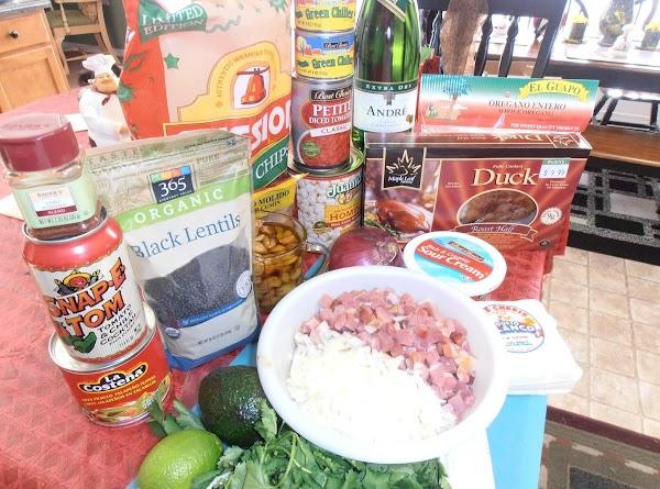 get ingredients ready