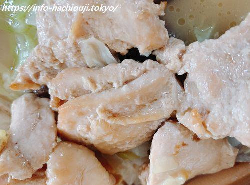たんぱく質が摂れる鶏鍋 鶏肉ゴロゴロ