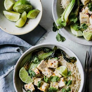 30-Minute Lemongrass Coconut Tofu Noodle Bowls.
