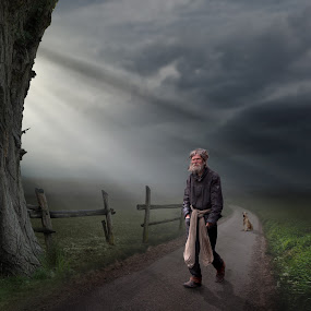 Come on ! by Frank Quax - Digital Art People ( fantasy, creative, editing, mood, dog, people, photoshop )