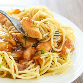 Orange Chicken Pasta.