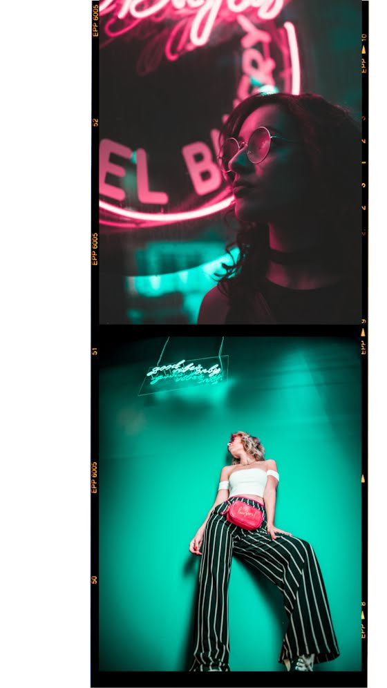 Neon Signage Frame - Facebook Story Template