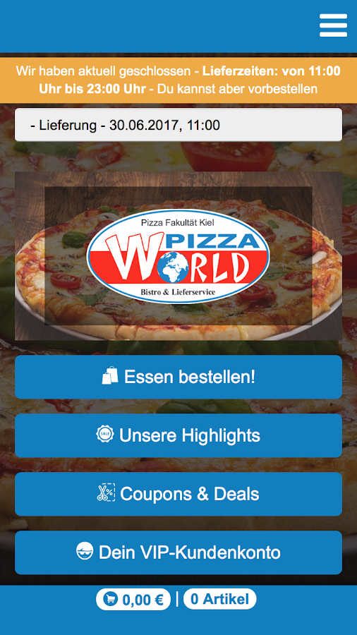 Pizza World- screenshot