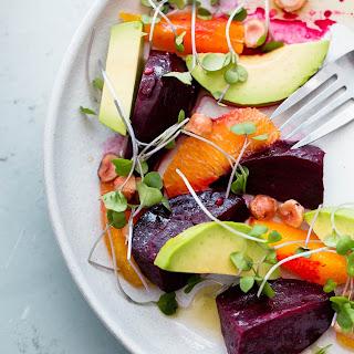 Roasted Beet Salad with Orange and Avocado.