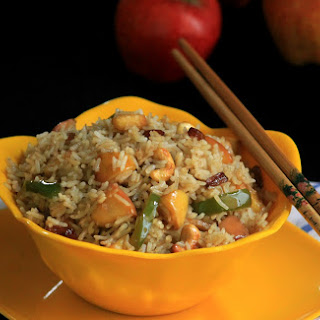 Chinese Vegetarian Fried Rice With Apples