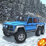Snow Driving Offroad 6x6 Truck Icon
