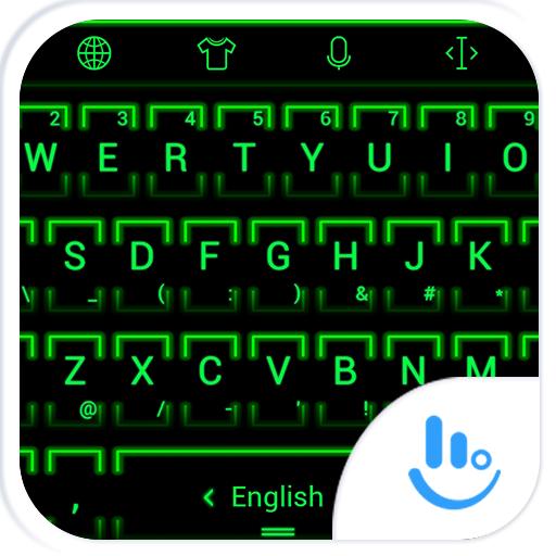 키보드 테마 NeonGrn2 個人化 LOGO-玩APPs