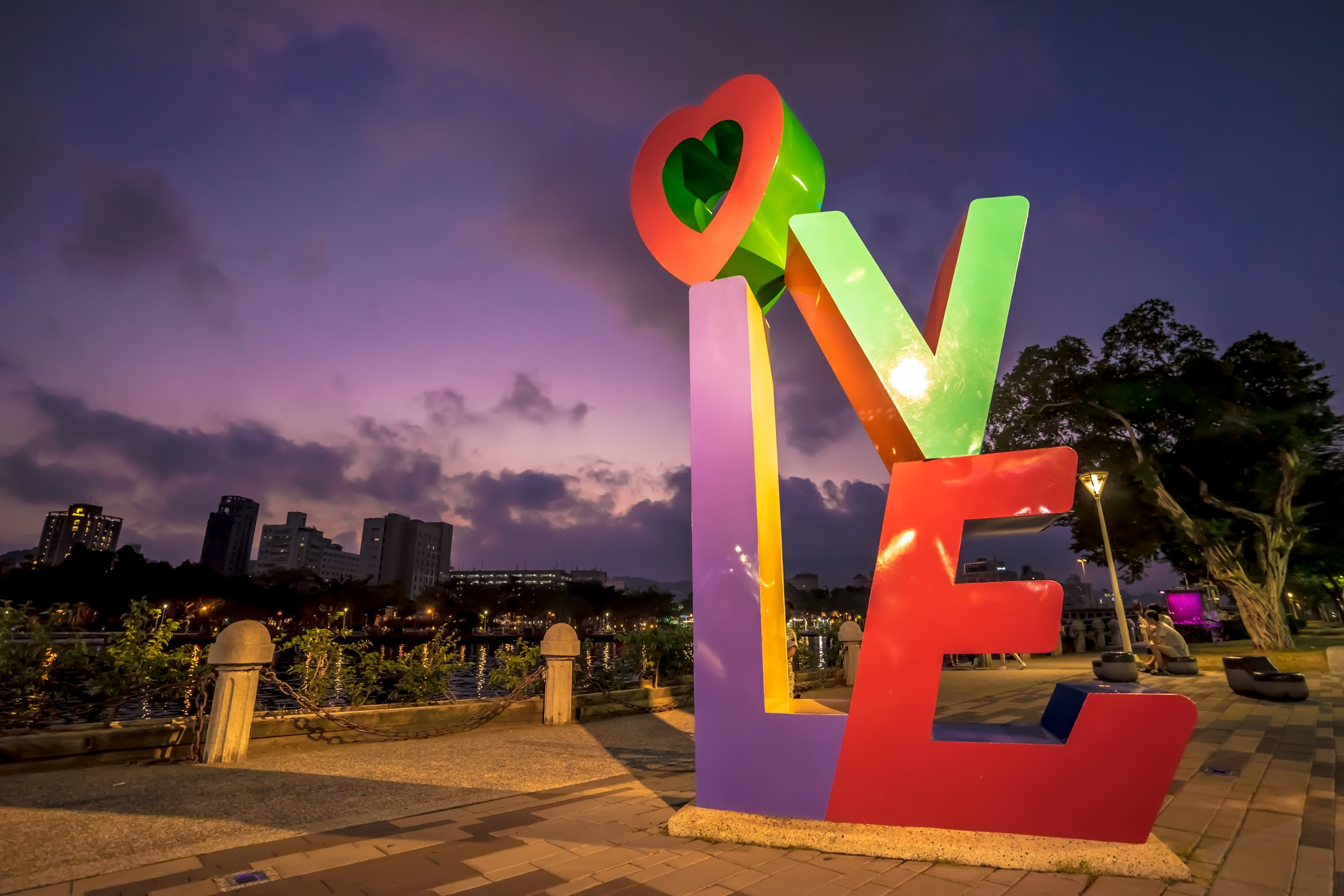 Taiwan Kaohsiung Love River light-up