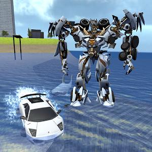 X Robot Car : Shark Water Online PC (Windows / MAC)