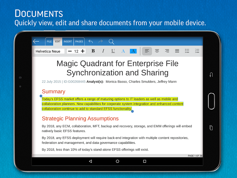 SmartOffice - View & Edit MS Office files & PDFs Screenshot 6