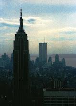 Photo: Iltanäkymä New Yorkissa keväällä 1986