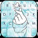 Blue Love Heart Keyboard Theme icon