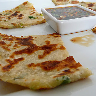 Scallion Pancakes with Ginger Dipping Sauce