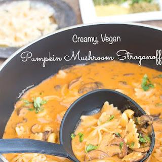 Creamy Mushroom Stroganoff with Pumpkins.