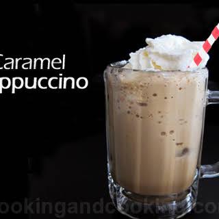 Easy Caramel Frappuccino.