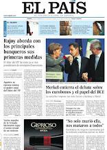 Photo: La reunión de Rajoy y los banqueros y el encuentro de Sarkozy, Merkel y Monti, en nuestra portada http://www.elpais.com/static/misc/portada20111125.pdf