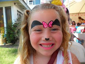 Photo: Minnie Mouse face paint by Heidi, La Verne.Book Heidi by calling 888-750-7024