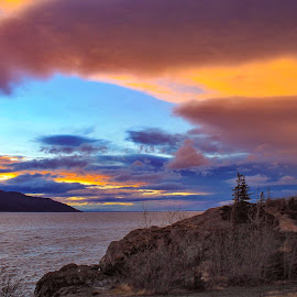Sunset Clouds by Patricia Phillips - Landscapes Travel ( alaska sunsets clouds beluga-point )