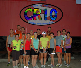Photo: Pre run group photo.  A colorful bunch.  (Better to see you with colors)