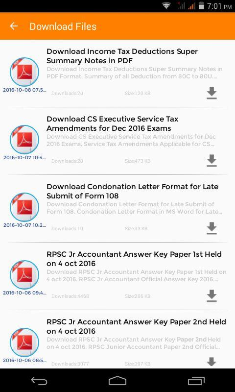 App For CA, ,CS, CMA, CPT IPCC Final, Tax, GST,- screenshot