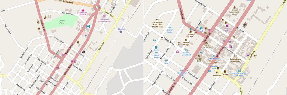 Moshi before and after mapping CREDIT: Ramani Huria