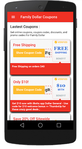 Download Smart coupons for Family Dollar store APK latest version