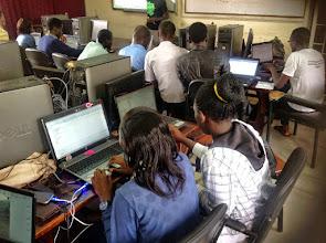 Photo: Android girls from Mbarara University