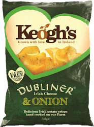 Keoghs Dubliner Crisps - Irish Cheese and Onion, 125g