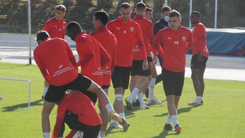Nikola Maras en el entrenamiento de este viernes.