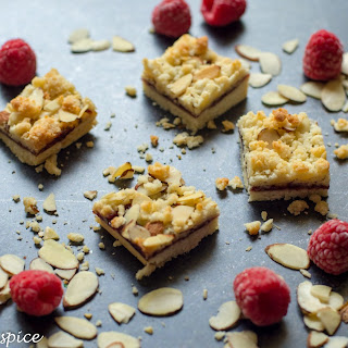 Raspberry Almond Bars.