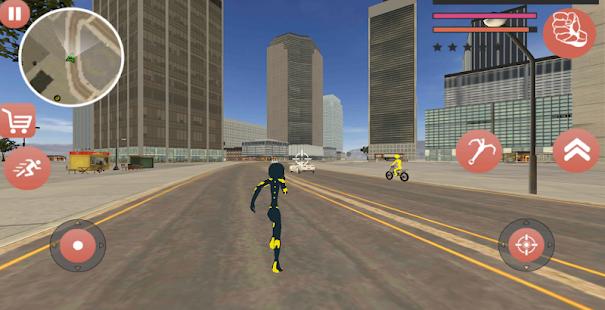 Download Black Superhero Iron Stickman Rope Hero Mafia For PC Windows and Mac apk screenshot 3