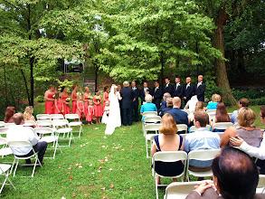 Photo: Wedding Ceremony in progress - Jessie & Glenn - 8/11 - Historic Kilgore-Lewis House - Greenville, SC http://WeddingWoman.net