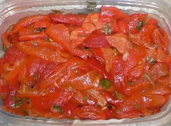Salad Of Baked Mild Pepper