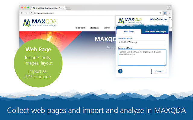 Web Collector for MAXQDA 2018 and 12