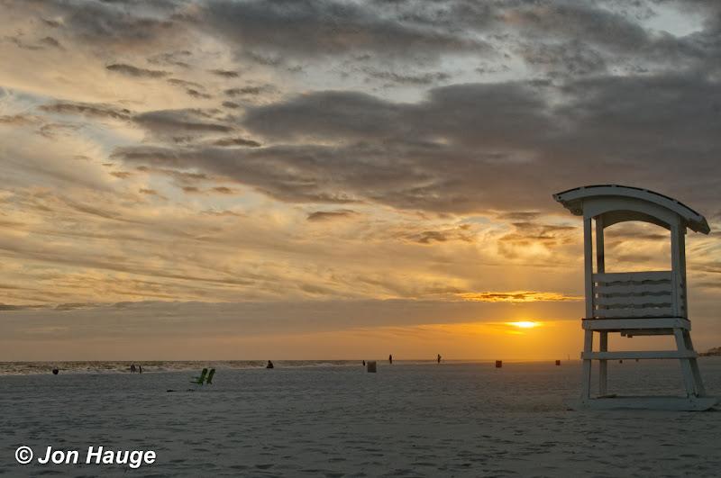 Photo: Sunset at Gulf Shores Beach  on Tuesday, November 8,2011.