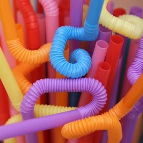 Straws by Tawfik Dajani - Abstract Patterns