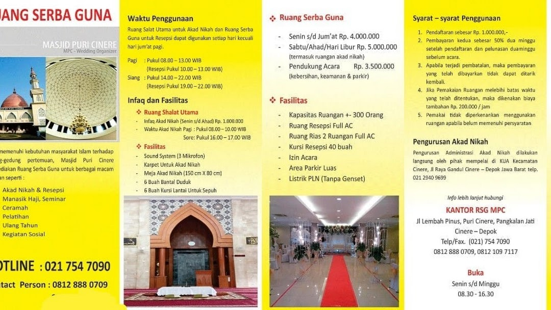 Masjid Puri Cinere Rsg Wedding Organizer