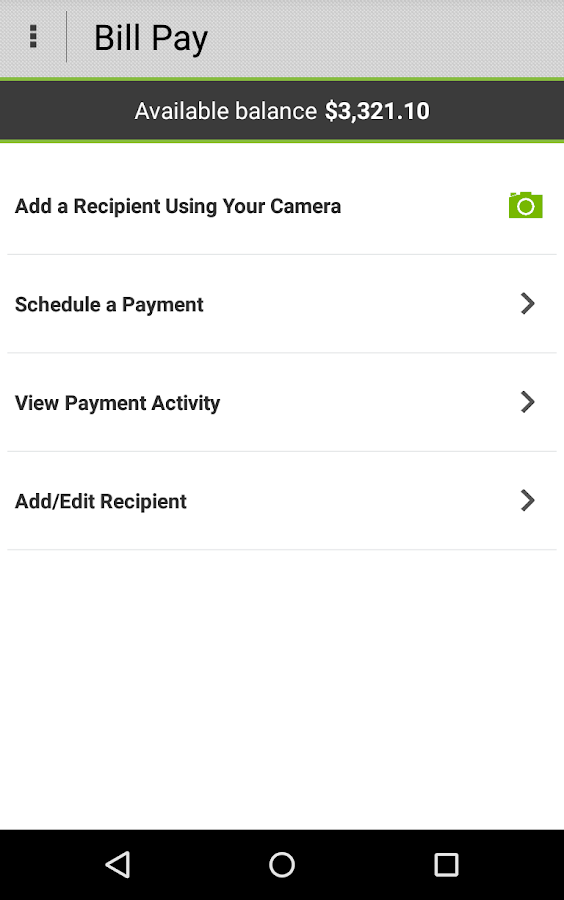 Higher One Mobile Banking App - screenshot