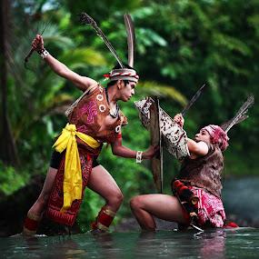 dayak warriors  by Jaya Prakash - People Musicians & Entertainers ( stronger )