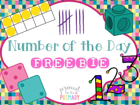 number of the day activities - freebie