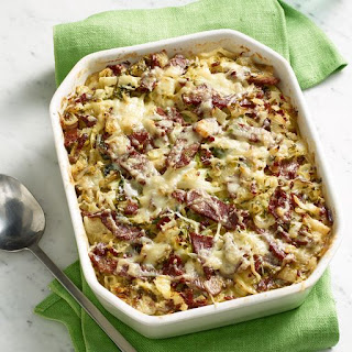 Baked Corned Beef and Cabbage Hash.