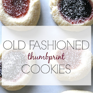 OLD FASHIONED THUMBPRINT COOKIES Recipe