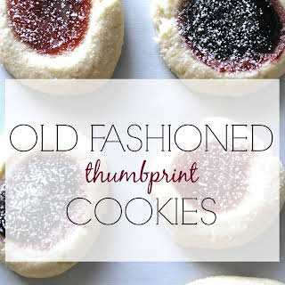 OLD FASHIONED THUMBPRINT COOKIES.