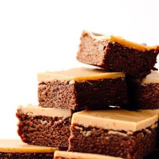 Vegan Gluten-Free Peanut Butter Brownies with PB Glaze.